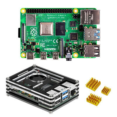 Raspberry pi 4 model B satater Kit 4GB RAM with 9 Layers Case and heat sink