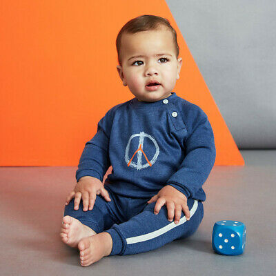 NEW Peace Print Baby Tee Boy's by Baobab Clothing