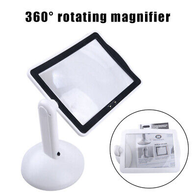 Hands-free 360° 3x Magnifier Magnifying Glass 2-LED Table Lights Desktop Lamp
