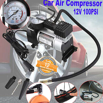 12v Car Air Compressor 100PSI Electric Tyre Deflator Portable Inflator Pump ANUK
