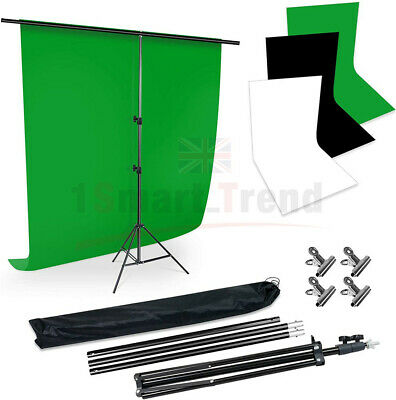 NEWLY Studio Backdrop Stand Heavy-Duty Video Photo Background Support KIT+Clamps