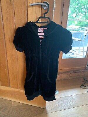 Girls Juicy Couture Age 10 Black Velour Comfy Dress