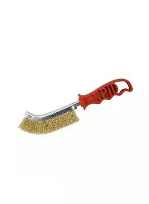 22x Genuine Spid Steel (Brass Plated) Wire Brush With Plastic Handle By SIT