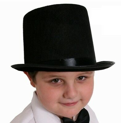 CHILDS BOWLER HAT 55CM AND BLACK BOW TIE  VICTORIAN FANCY DRESS COSTUME OUTFIT