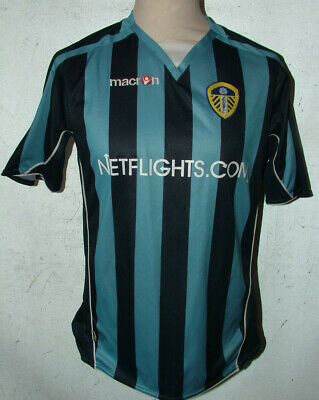 Boys Macron Leeds United Net Flights Away Football Shirt XL 40in Ches