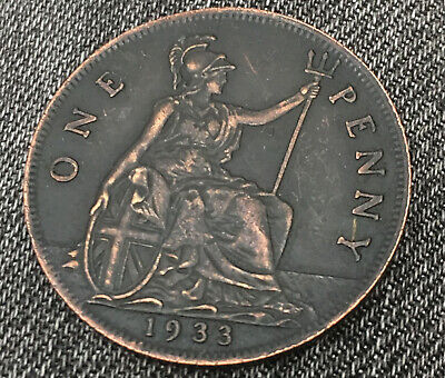 1933 Penny George V  Coin...extremly rare date