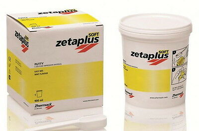 Zetaplus Soft Putty Zhermack 900Ml. Dental Silicone Silicona.