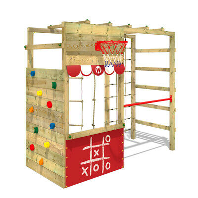 Klettergerüst Spielturm WICKEY Smart Action Kinder Turngerüst rot Kletterturm