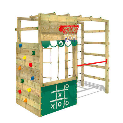 Klettergerüst Spielturm WICKEY Smart Action Kinder Turngerüst grün Kletterturm