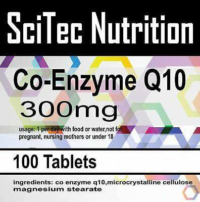 Co Enzyme Q10 CoQ10 300mg Naturally Fermented Trans Form UK Made x 100