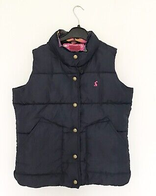 Girls JOULES Navy Blue Gilet Quilted Padded Bodywarmer 128cm Age 8
