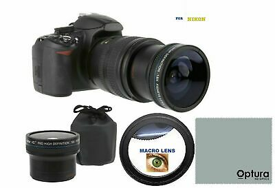 18X ULTRA FISHEYE WIDE ANGLE LENS FOR NIKON Nikkor AF-S 50mm f/1.8G 50mm f/1.4G