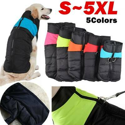 Thicken Waterproof Pet Dog Clothes Autumn Winter Warm Padded Coat Vest Jacket