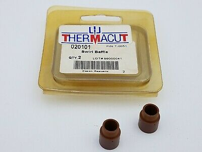 2PC Thermacut 020101 T-0051 Baffle Swirl Ring Nozzle Torch