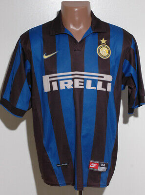 Inter Milan Italy 1998/1999 Home Football Shirt Jersey Nike Size M Adult