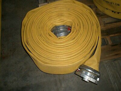 "Yellow 5 "" X 100 ' Pro Flow Supply Fire Hose"