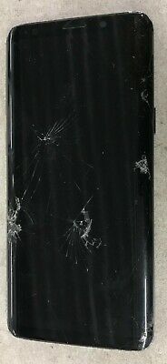 BROKEN Samsung Galaxy S9 SM-G960W Titanium Grey Unlocked CRACKED as is LCD Glass