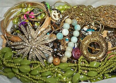 FUN Vintage Now Junk Drawer Jewelry Lot Unsearched Untested Mixed Condition