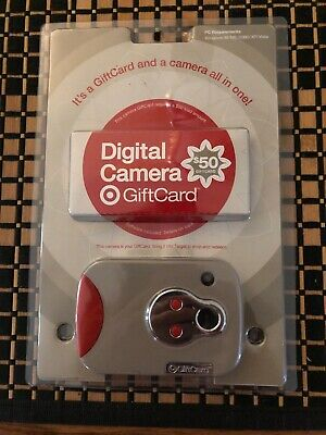 NO CASH VALUE TARGET GIFT CARD NEW UNSCRATCHED DIGITAL CAMERA REAL w/DISK 2008