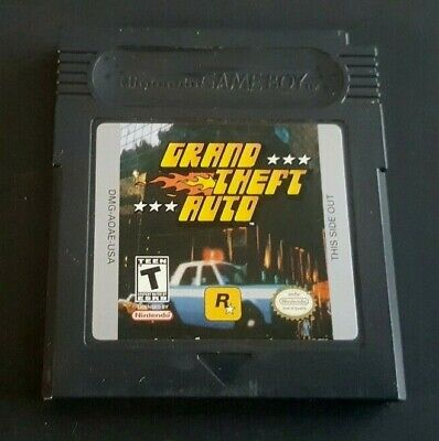 Gameboy Color Game GBC GBA SP ~ GRAND THEFT AUTO ~ 100 Crazy Missions Must Own