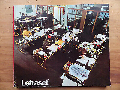 c1970 ORIGINAL VINTAGE LETRASET CATALOGUE~TYPEFACES/GRAPHIC ARTS~TYPOGRAPHY/FONT