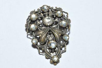 Pretty Vintage Art Deco Filigree Dress Clip
