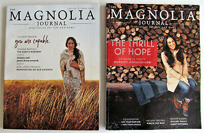 Lot of 2 Magnolia Magazines Fall & Winter 2018