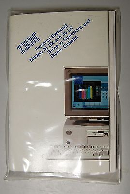 Rare IBM Personal System /2 MDL 35 SX Guide & Disk (Will Ship WorldWide)