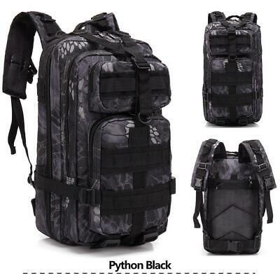 Black Tactical Military Backpack Oxford Sport Bag 30L For Camping Travel Hiking
