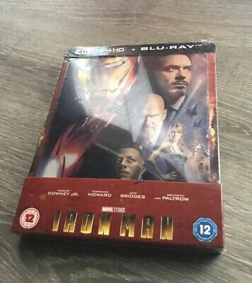 💥💥Steelbook Exclusif Iron Man ZAVVI  - 4K Ultra HD (+2D) MARVEL SOLD OUT💥💥