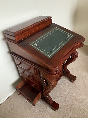 Antique vintage wooden writing desk