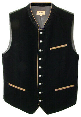 Maddox Velvet Vest Zwiesel - Black - Men's Traditional Costume Fashion with