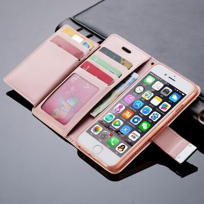 For iPhone XS MAX XR X 7 8 Plus 6 Leather Flip Wallet Magnetic Case Cover Stand