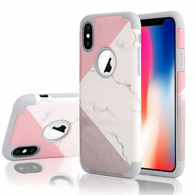 iPhone 6S 7 8 PLUS X XS MAX XR Shockproof Armor Protective Hard Back Case Cover