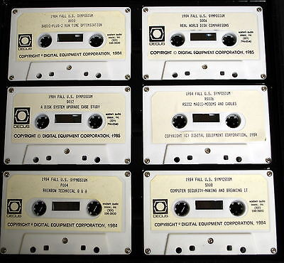 Digital Computer Symposium Audio Tape Collection RSTS PDP11 -1984- VERY RARE