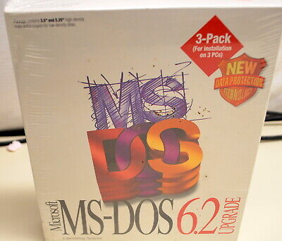 Microsoft MS-DOS 6.2 Upgrade New in Box ships worldwide