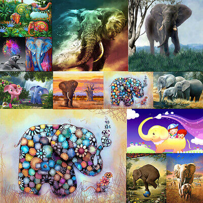 Elephant Animal Full Drill DIY 5D Diamond Embroidery Painting Cross Stitch Mural