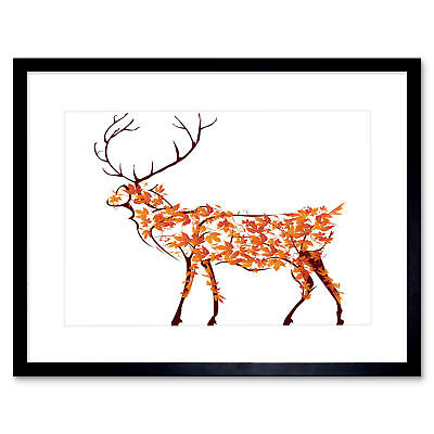 PHOTO COMPOSITION DEER SILHOUETTE SUNSET SKY STAG POSTER PRINT BMP11152