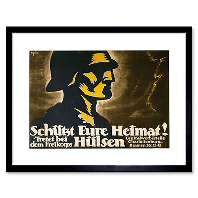 MILITARY AFTERMATH WAR WWI GERMANY FREIKORP NEW ART PRINT POSTER CC4003