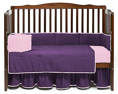 7pcs Baby Crib Bedding Set w// Silk Comforter /& SilkSac