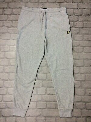 Lyle & Scott Mens Uk Xl Grey Fleece Sweatpants Joggers Track Pants J