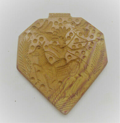 Beautiful Ancient Near Eastern Carved Intaglio Pendant Wearable