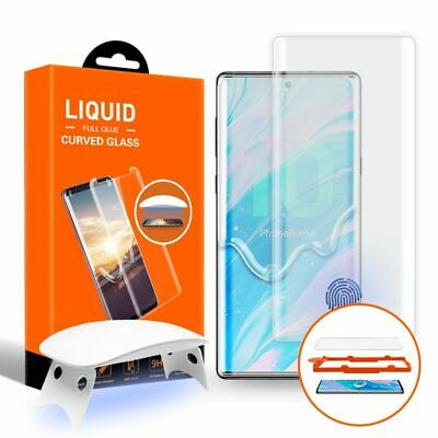 T-Max UV Tempered Glass Screen Protector for Samsung Galaxy Note 10+ Plus, Clear