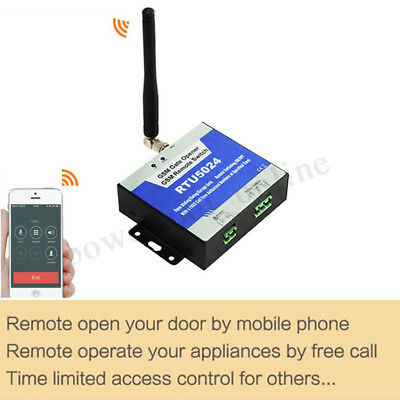 RTU5024 SMS GSM Gate Opener Free Call Wireless Door Access Phone Remote  UK !