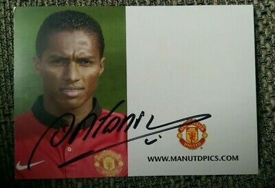 Antonio Valencia Autogramm, Manchester United, signed autograph card
