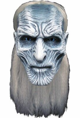 Game Of Thrones White Walker Deluxe Adult Latex Mask HBO Humanoid Ice Creature