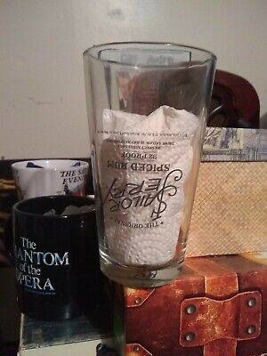 Sailor Jerry Spiced Rum Glass -  RARE, upside down lettering