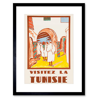 TRAVEL TOURISM TUNISIA NORTH AFRICA FRENCH PEOPLE BUILDING FRANCE POSTER CC6961