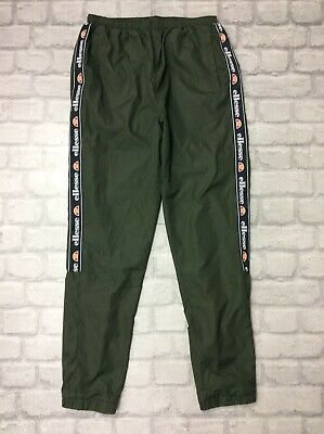 Ellesse Mens Uk Xs Castes Track Pants Khaki Green Joggers Sports Active  J