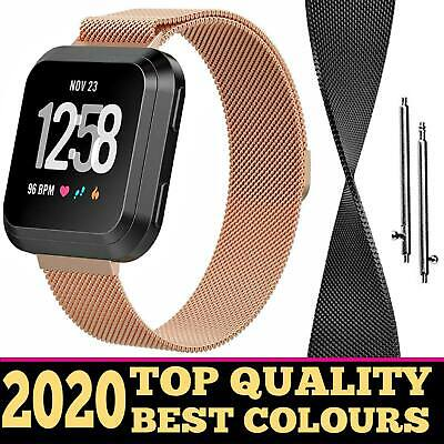 For Fitbit Versa Milanese Watch Band Strap Wrist Magnetic Stainless Steel Loop